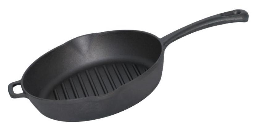 Litinová grill pánev kulatá